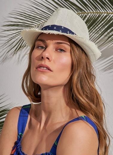 Morhipo Beach Çapa Detaylı Şapka Ekru